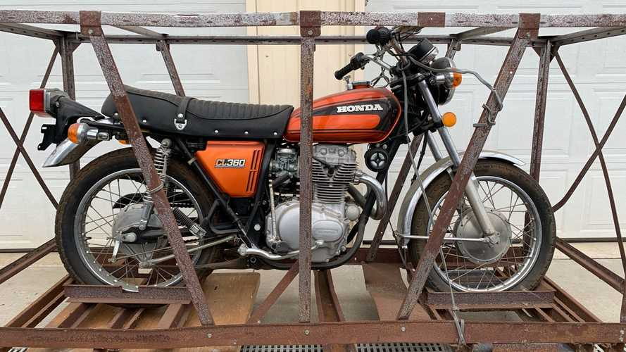 This 1975 Honda CL360 Crate Bike Is A Literal Time Capsule