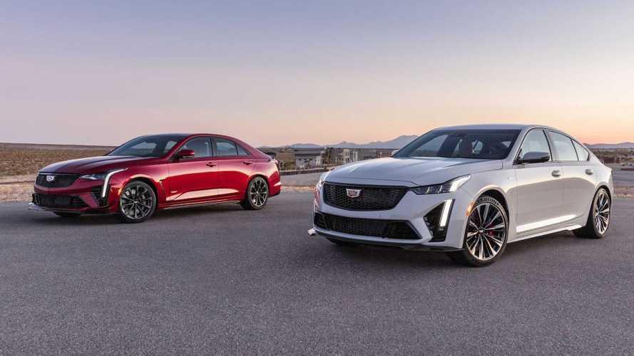 Cadillac раскрыл внешность спортседанов CT4-V и CT5-V Blackwing