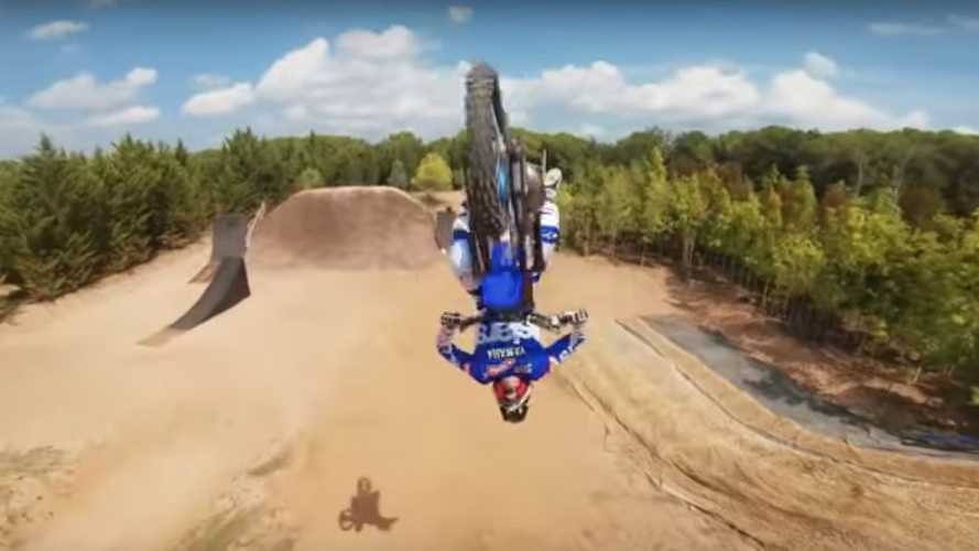 Freestyle motocross plus racing drone equals epic video