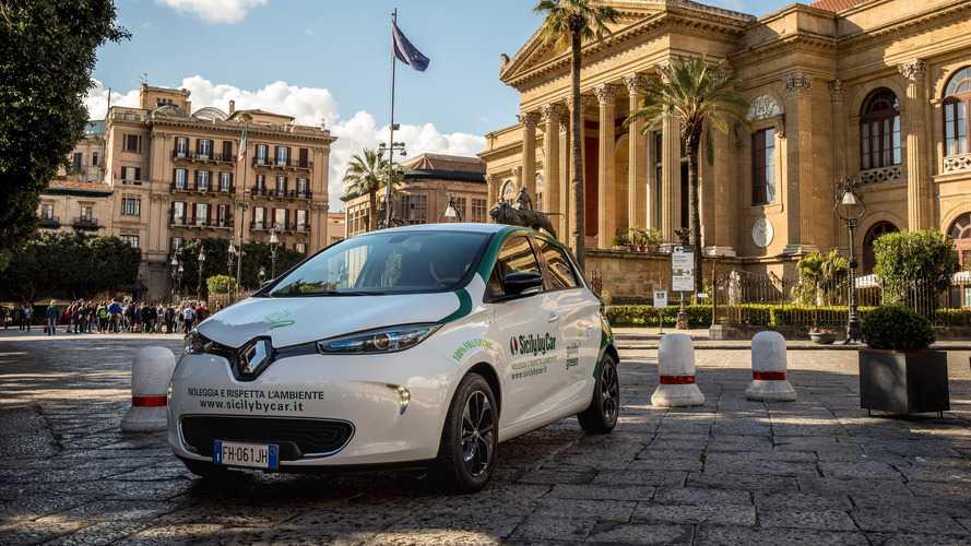 Des Renault Zoé en Sicile