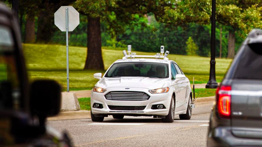 Ford Autonomous Vehicle on road