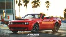 Dodge Demon Convertible Rendering