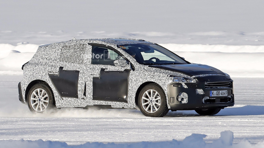 2018 Ford Focus prototype spied dancing on ice