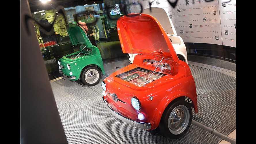 Fiat 500 mutiert zum Kühlschrank
