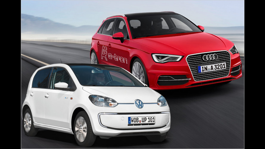 VW e-Up, Audi A3 e-tron