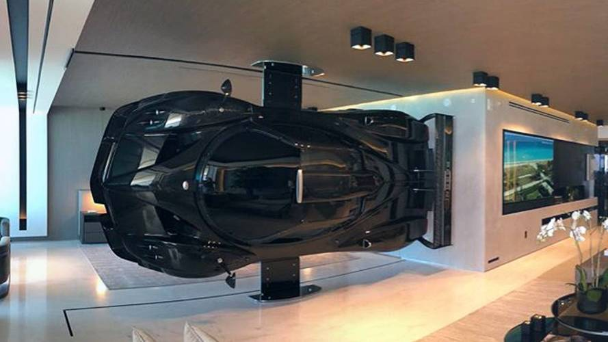 This Pagani Zonda Becomes Art By Hanging It In The House