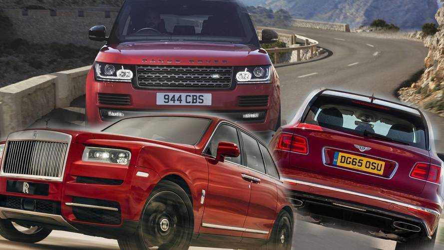 Cullinan vs Bentayga vs Range Rover in numbers