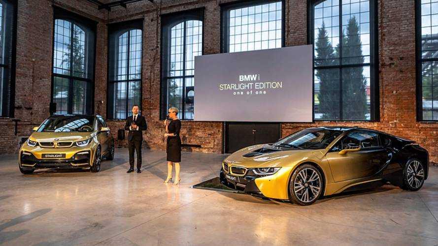 BMW, altın kaplamalı i3 ve i8 modellerini duyurdu
