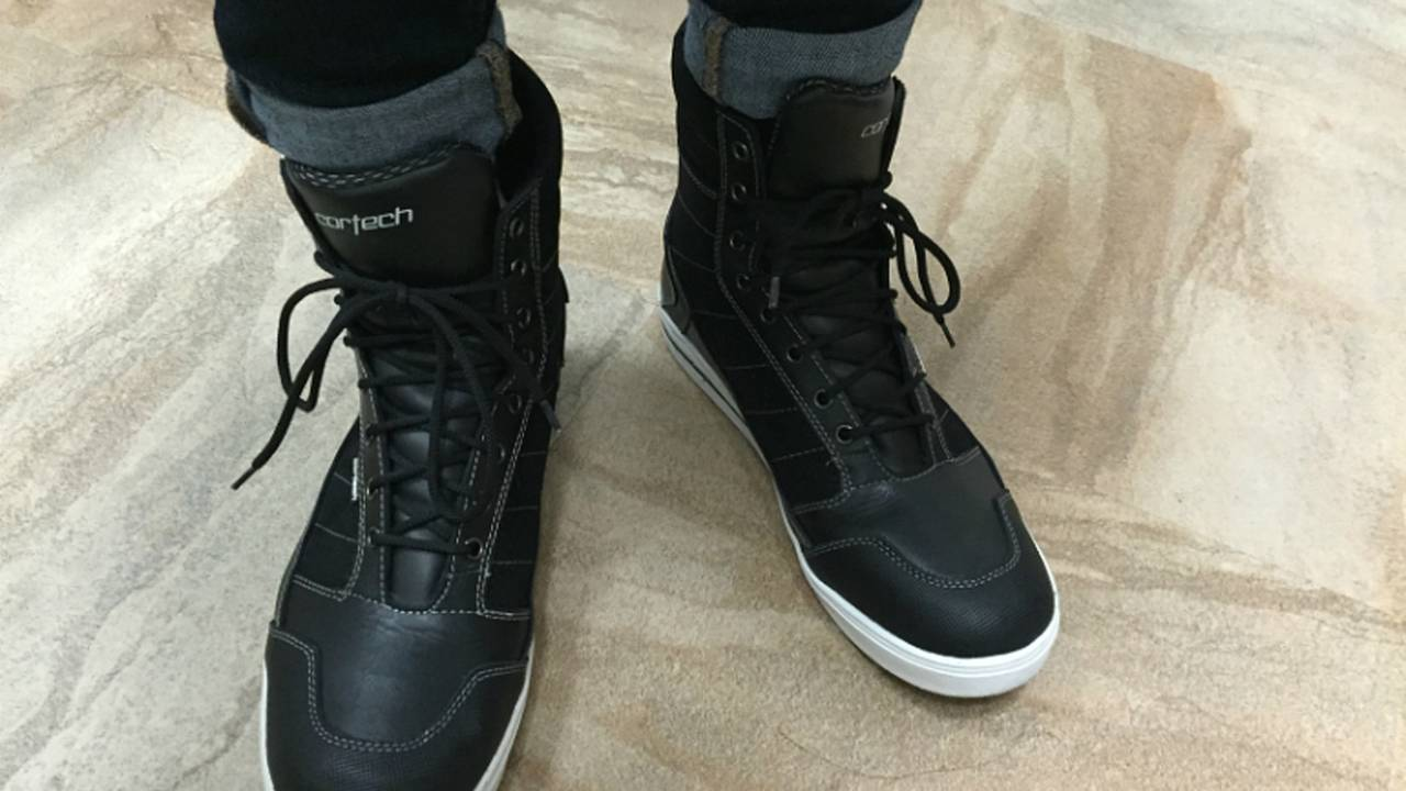 Cortech's Sneaker Look-A-Like: the Vice WP Riding Shoe - Gear Review
