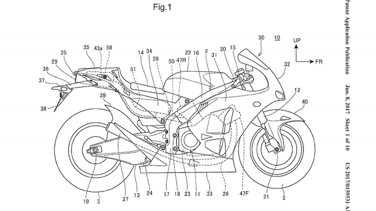 Honda Underseat Exhaust Patent Hints at V4 Supersport