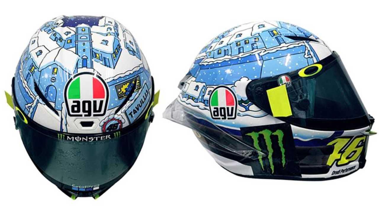Rossi's Custom AGV Pista GPR Winter Helmet