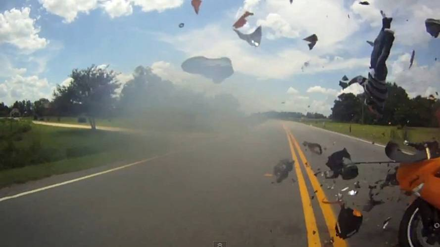 Watch a ZX-10R hit a trailer dead on
