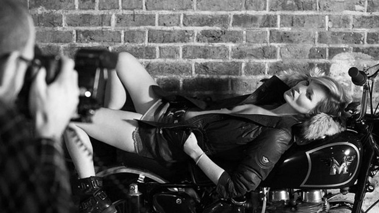 Kate Moss and Matchless Motorcycles