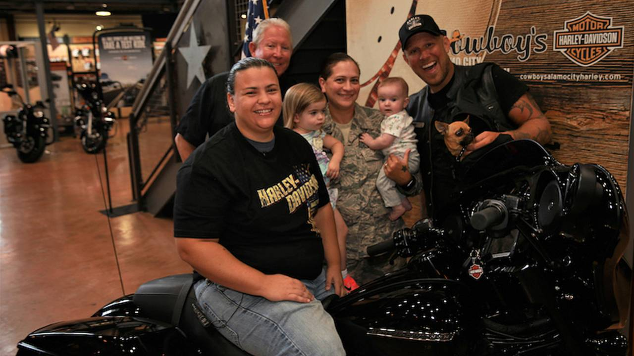 Retired Air Force Medic Awarded New Harley