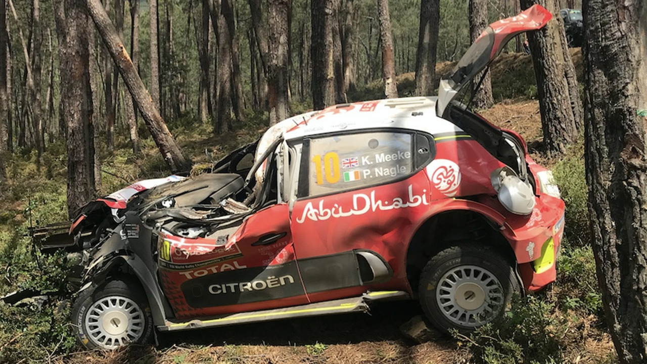 Kris Meeke, Paul Nagle, Citroën C3 WRC, Citroën World Rally Team, crash
