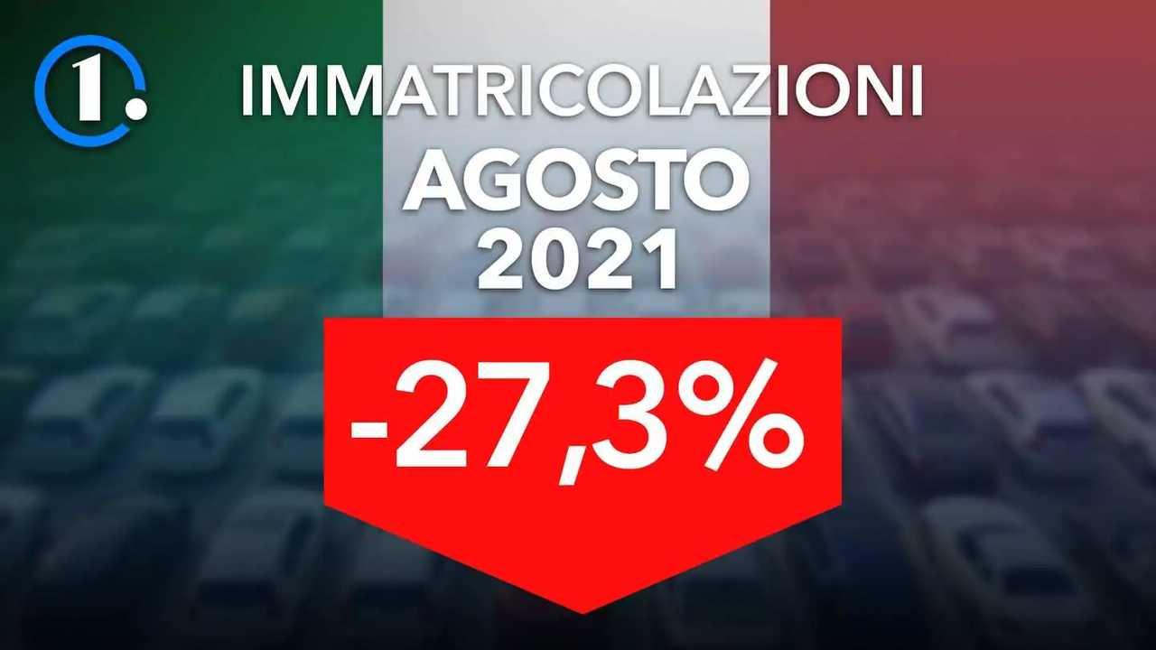 Immatricolazioni auto in Italia ad agosto 2021
