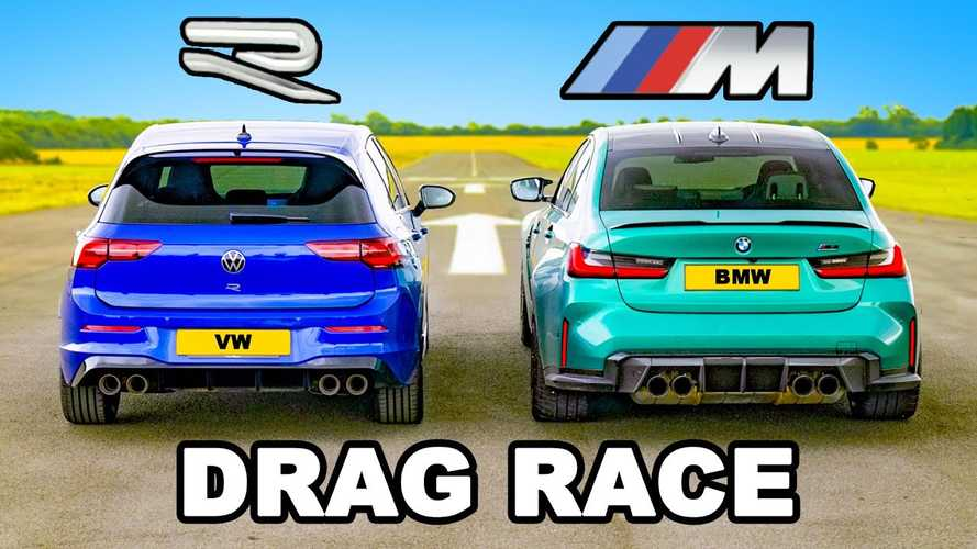 UK: BMW M3 Competition vs VW Golf R drag race is not even close