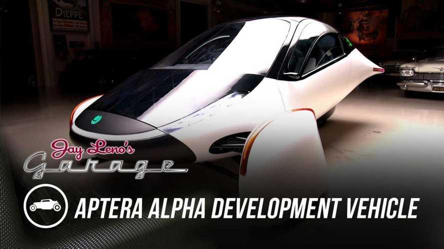 Jay Leno Drives 1,000-Mile-Range Aptera Alpha On Public Roads