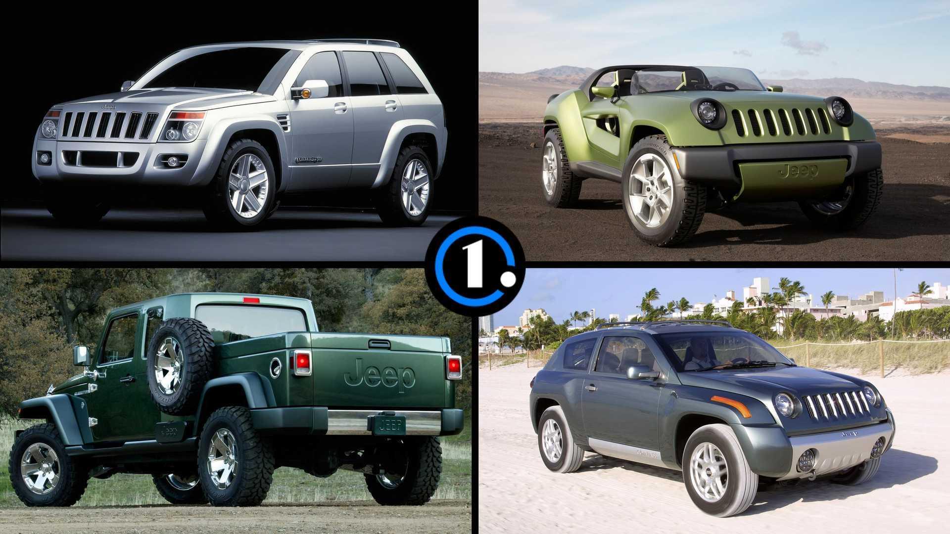 7 желанных концептов Jeep, которые все же добрались до конвейера