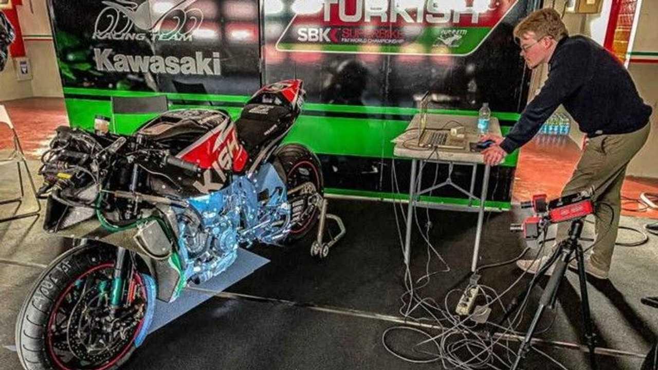 WSBK Kawasaki Puccetti Racing 3D Printing - Scan