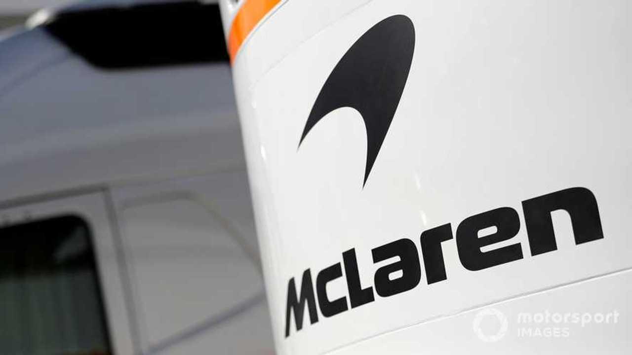 Mclaren logo at Barcelona Formula 1 testing 2019