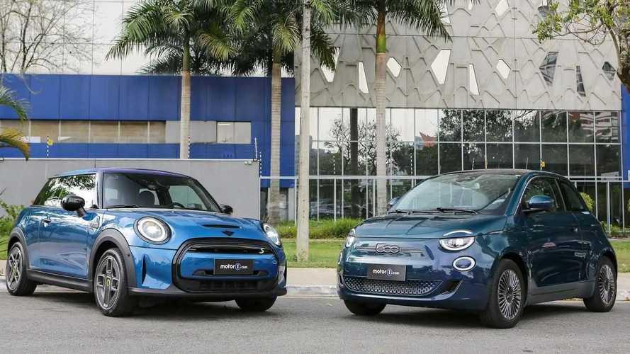 Comparativo Fiat 500e vs. Mini Cooper SE: Elétricos e nostálgicos