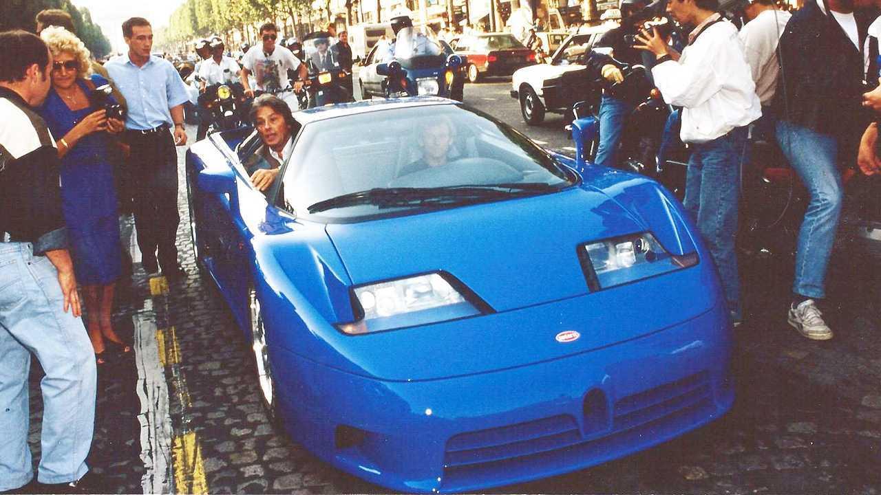 Bugatti EB110, la presentazione a Parigi del 14 settembre 1991