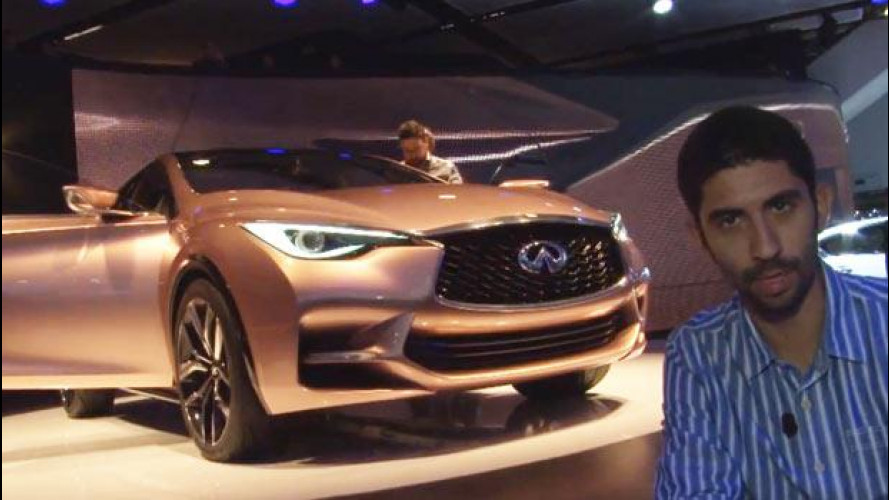 Salone di Francoforte: la Infiniti Q30 Concept vista dal vivo [VIDEO]