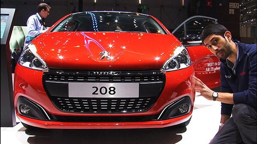 Peugeot 208 restyling, il graffio dei LED [VIDEO]