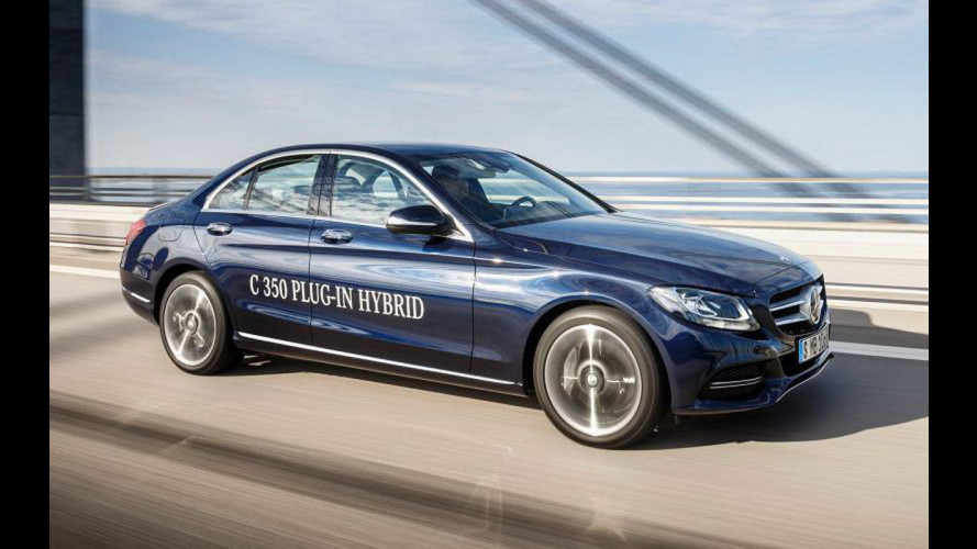 Mercedes C350e, l'ibrida plug-in da 275 CV