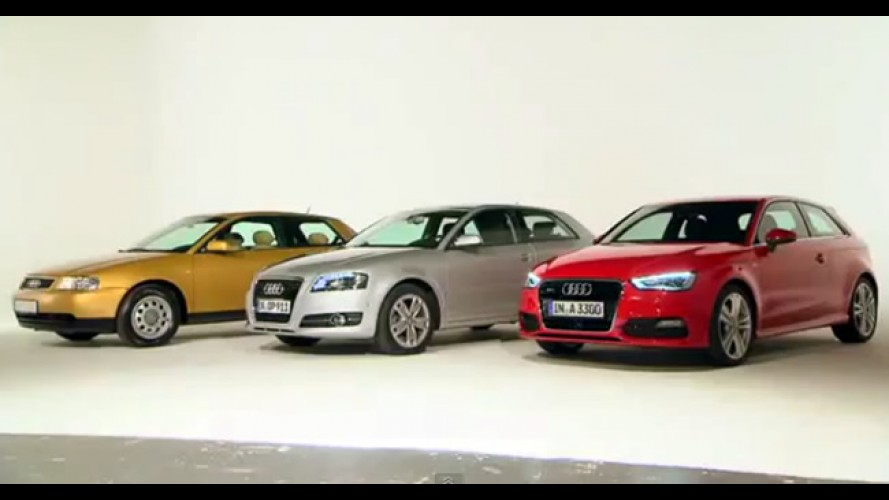 Novo Audi A3: Vídeo mostra claramente a evolução das últimas gerações
