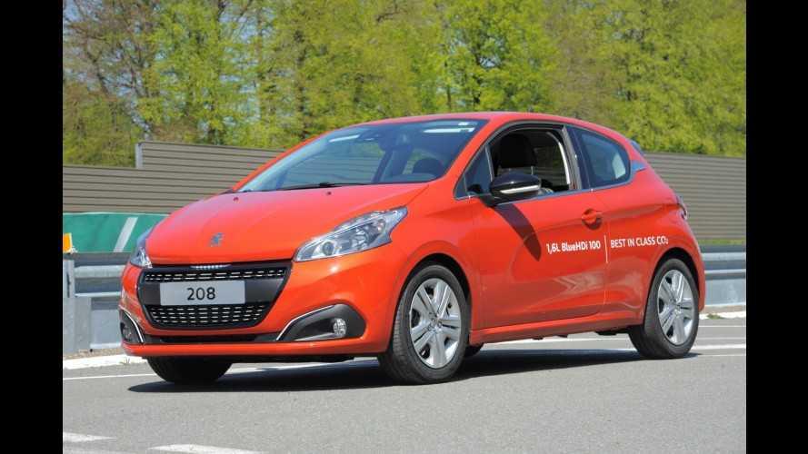 """Peugeot 208 tem consumo recorde de 50 km/l após """"maratona"""""""
