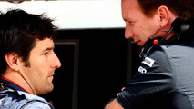 Mark Webber (AUS), Red Bull Racing, Christian Horner (GBR), Red Bull Racing, Sporting Director - Formula 1 World Championship, Rd 10, British Grand Prix, 10.07.2010 Silverstone, England