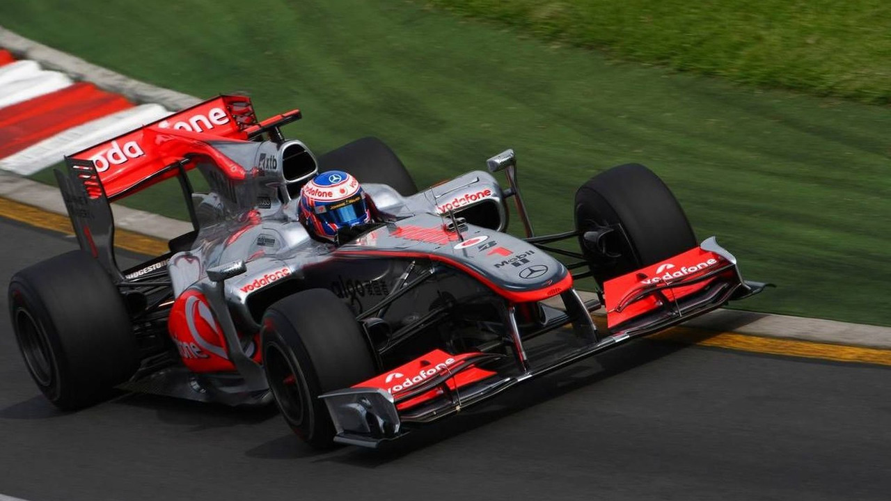 Jenson Button (GBR), McLaren Mercedes, MP4-25 - Formula 1 World Championship, Rd 2, Australian Grand Prix, Friday Practice