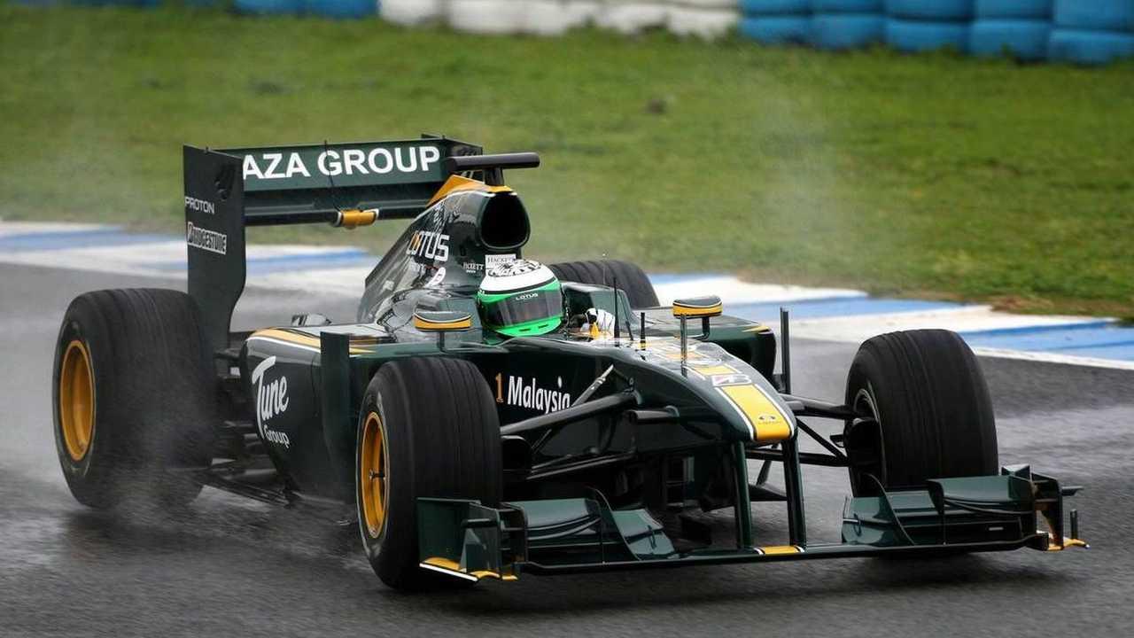 Heikki Kovalainen (FIN), Lotus F1 Team, T127, Crashes - Formula 1 Testing, 18.02.2010, Jerez, Spain