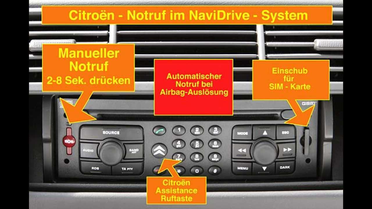 Notruf mit Citroën
