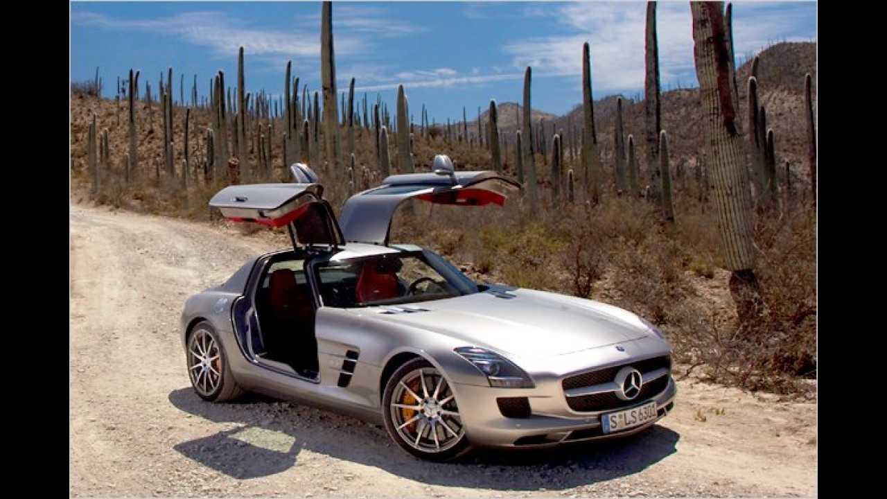 13. Platz: Mercedes SLS AMG
