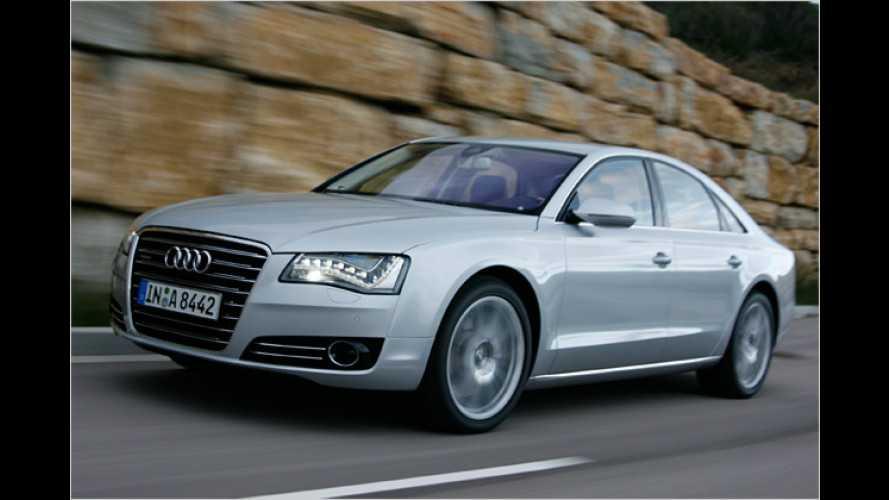 Audi A8 (2010) mit Sechszylinder-Diesel im Test: Auf Einhol-Tour