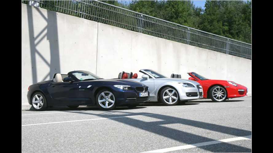 Purer Roadster-Spaß: Audi TT, BMW Z4, Porsche Boxster