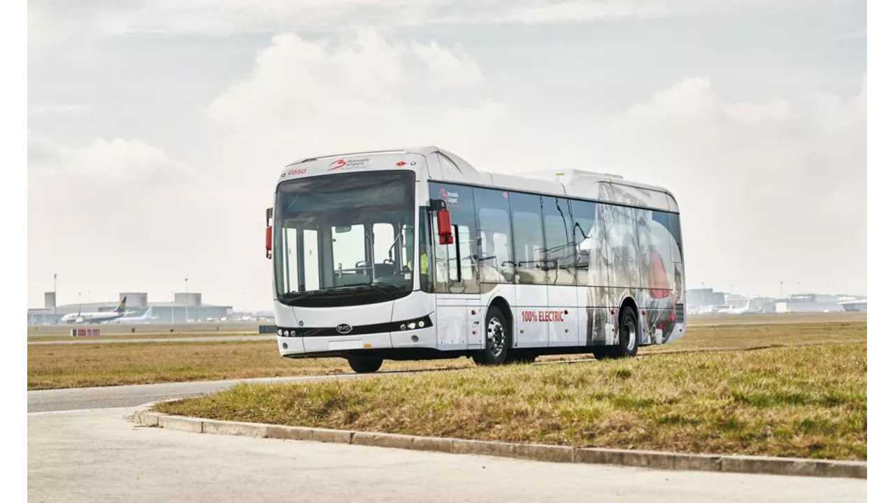 Brussels Airport Switches To Electric Buses With BYD