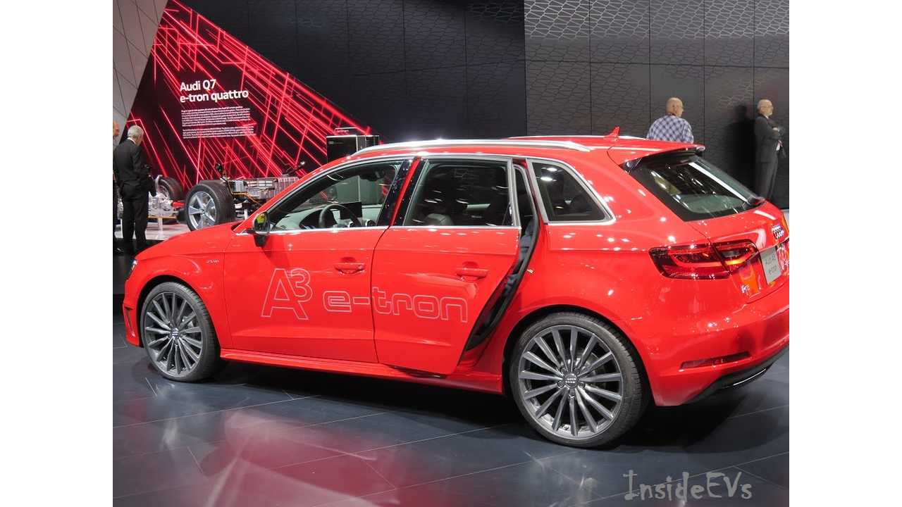 Audi A3 e-Tron - Also Arriving in 2015 In US (Image: Tom Mouloughney/InsideEVs)