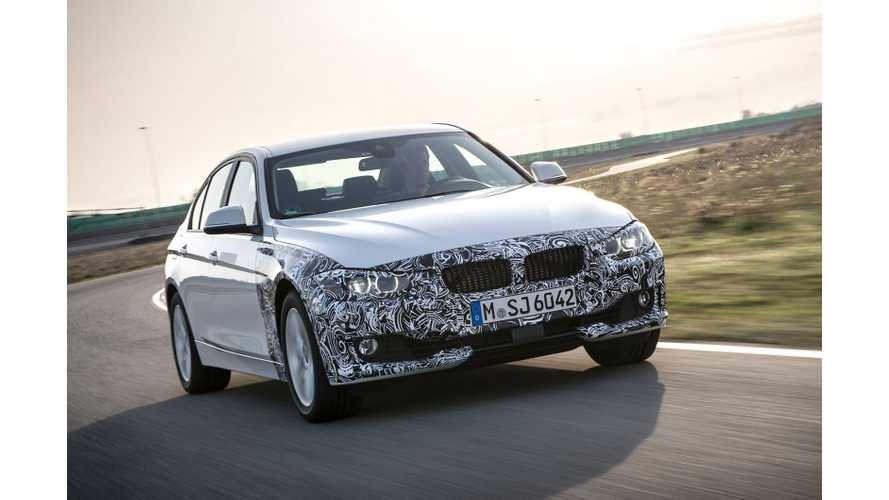 BMW 328e Plug-In Hybrid Production Begins November 2015