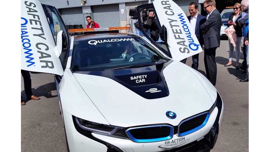 BMW i8 Formula E Safety Car In Action - (w/video)