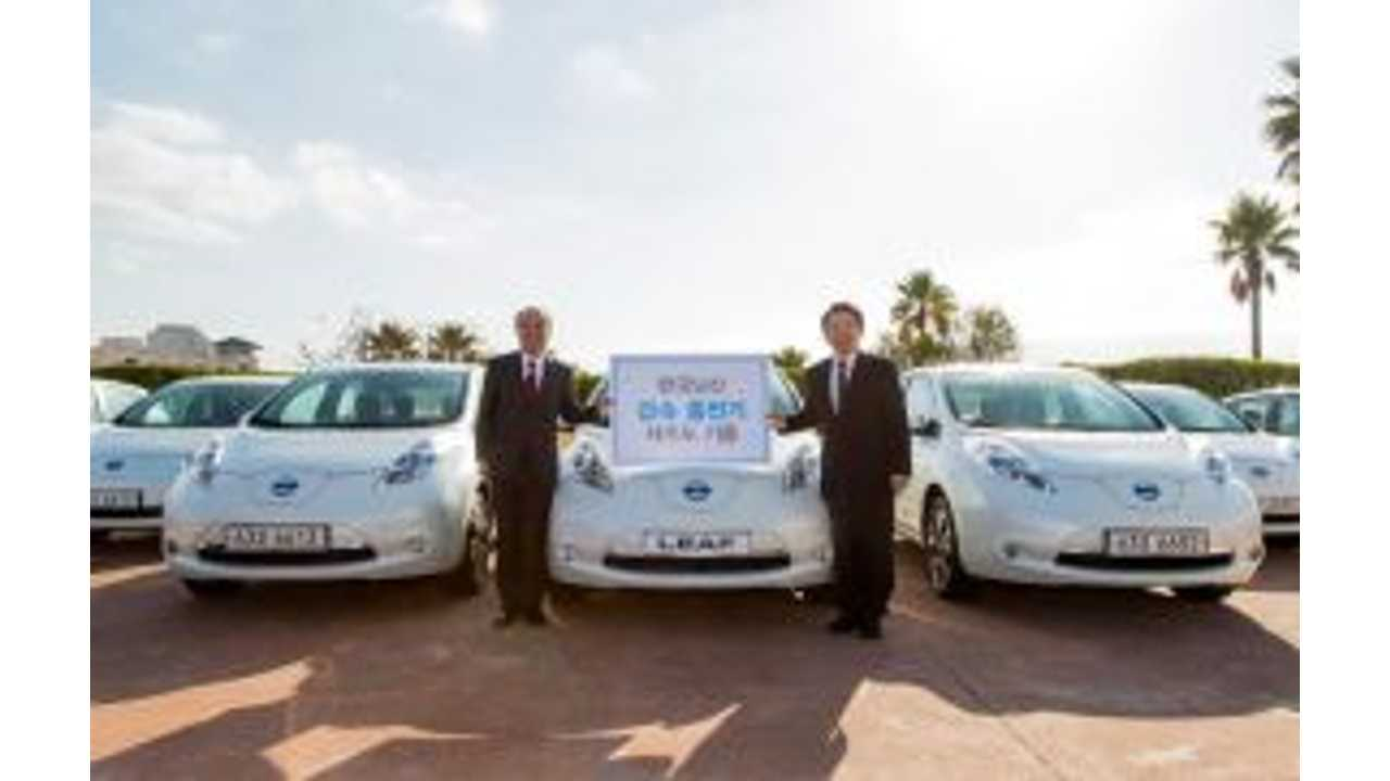 Nissan LEAF Now On Sale In South Korea