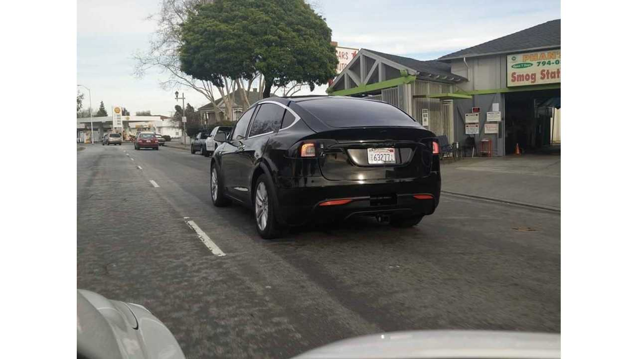 Tesla Model X Spotted Testing On Public Roads With Tow Hitch