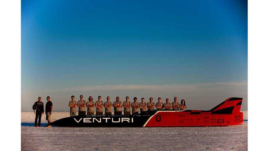 Venturi VBB-3 Sets New EV Land Speed Record: 341 MPH - Video