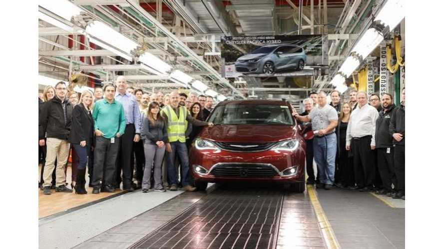 Production Now Underway On 2017 Chrysler Pacifica Plug-In Hybrid