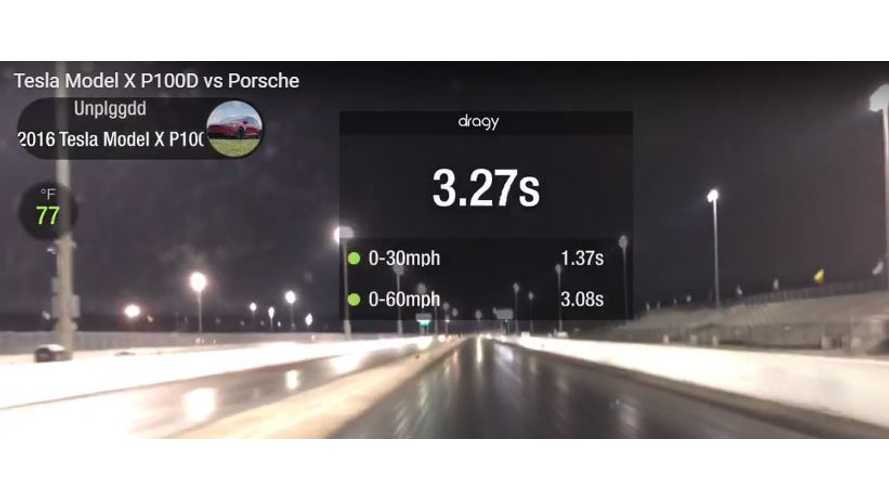 Watch Tesla Model X P100D Accelerate To 60 In Almost 3 Seconds
