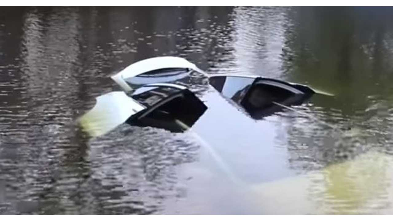 Tesla Model X Falcon Wing Doors Automatically Open When Submerged
