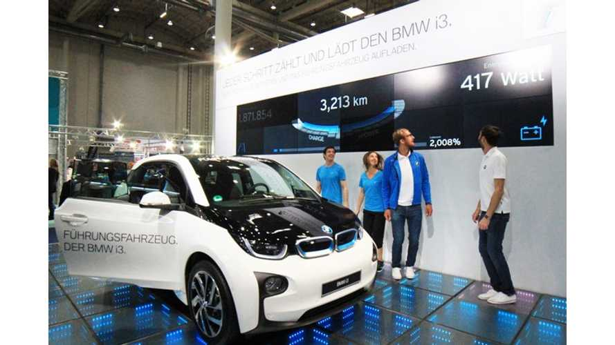BMW i3 Charged By Footsteps - Video